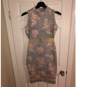 Kardashian heather grey midi dress